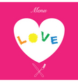 love menu cover vector image