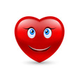 Smiling heart vector image vector image