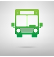 Bus icon Green icon with shadow vector image