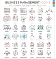Business management ultra modern color vector image