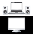 computer isolated on white background vector image