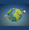 low poly earth vector image