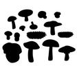 Mushrooms set 003 vector image