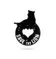 save the lion symbol in black color vector image