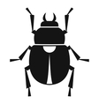 Scarab icon simple style vector image