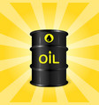 single realistic oil barrel on sunray background vector image