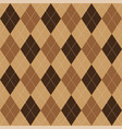 argyle pattern brown rhombus seamless texture vector image