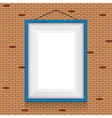 frame for paintings or photographs on the brick vector image