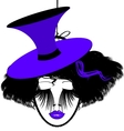 image of black-purple dame vector image