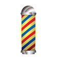 red and blue barbers pole vector image vector image