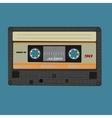 Retro audio cassete Vintage color vector image