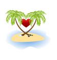 Island love vector image
