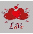 Hearts for design Valentines day love message vector image