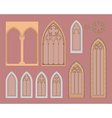 gothic windows vector image