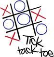 Tic Tac Toe vector image