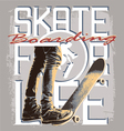 Skate for Life vector image