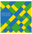 Abstract geometric background in Brazil flag color vector image