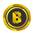 bitcoin golden icon vector image