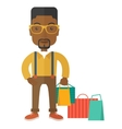 Black guy who go shopping vector image