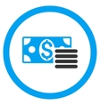 Dollar Cash Rounded Icon vector image