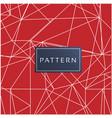 geometric modern seamless red background im vector image