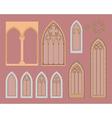 Gothic windows vector image