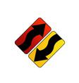 Logo with arrows vector image