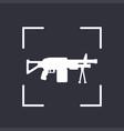 machine gun icon automatic firearm vector image