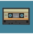 Retro audio cassete Vintage color vector image