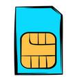sim card icon icon cartoon vector image