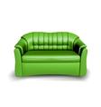 Green sofa vector image vector image