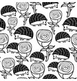 monochrome seamless pattern with roses and vector image