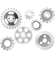 machine gear wheel vector image