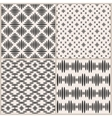 Set of four geometric seamless patterns vector image