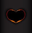 Heart on black background vector image