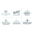 Set of Spa Beauty Yoga Sport Elements can be used vector image