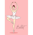 with ballet dancer vector image