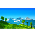 Alps mountains with green fields vector image