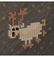 Deer Pixel art Funny animals vector image