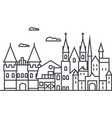 germany castles line icon sign vector image