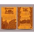 Harvest festival brochure template with vegetables vector image