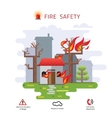 house on fire with typographic design - vector image