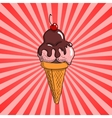 Ice cream with topping vector image