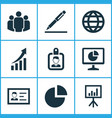 business icons set collection of identification vector image