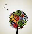 Colorful stylized tree vector image