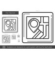 city map line icon vector image