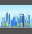 flat style modern design of urban city landscape vector image
