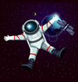 spaceman or cosmonaut astronaut in space vector image