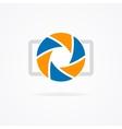 Simple camera logo vector image