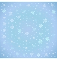 Winter background with snowflake vector image